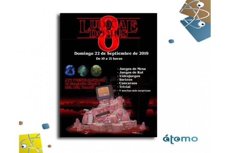 ÁTOMO GAMES TU EDITORIAL DE JUEGOS DE MESA FAMILIARES EN LA ACTIVIDAD LUDICA DOMUS 8