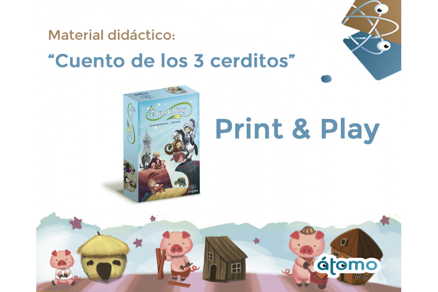 Print & Play Cuento de los Tres Cerditos