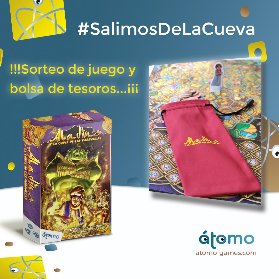 Sorteo juego+bolsa #SalimosDeLaCueva