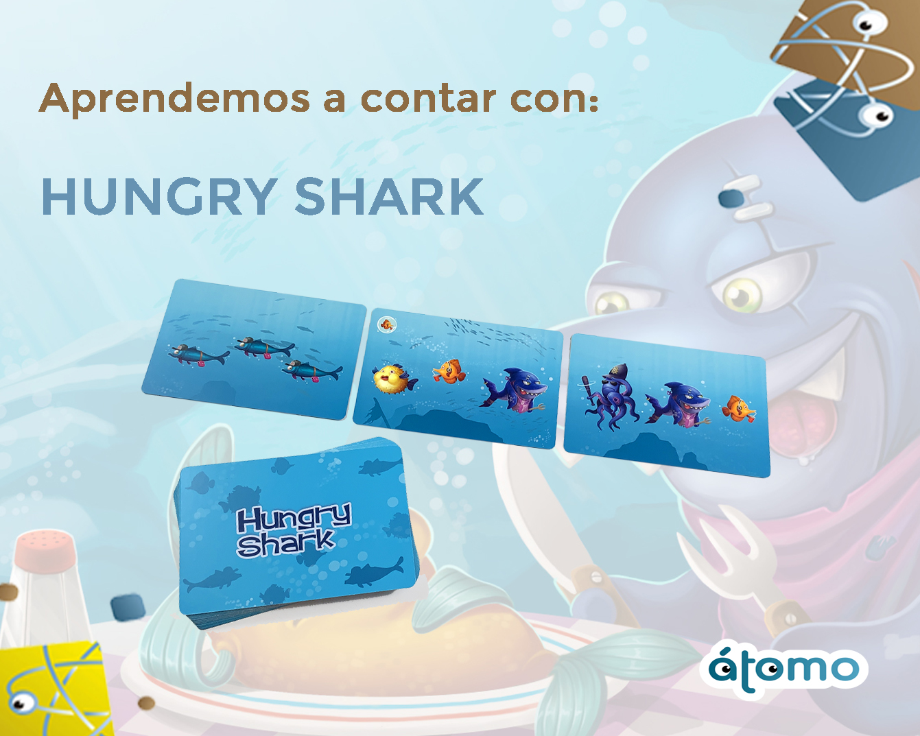Aprendemos a contar jugando: Hungry Shark