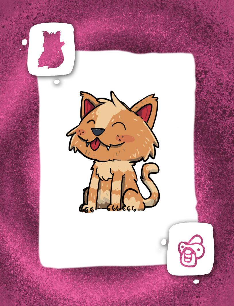 Carta de Bebé Gato juego de cartas Más Mascotas