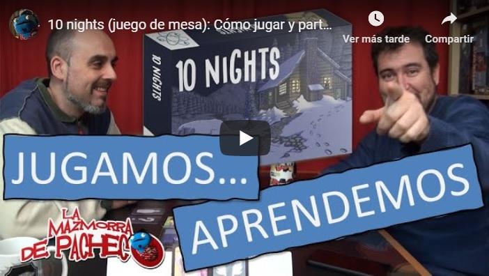 Vídeo demostración juego 10 Nights